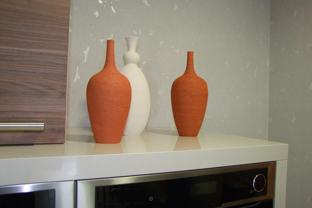 vases orange et blanc - Jaune Citron
